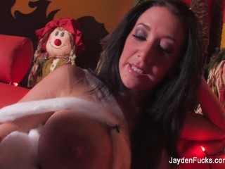 Preview 1 of Busty Jayden Jaymes does a spooky Halloween solo