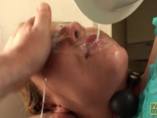 Throatfucked UK sub tiedup and spanked