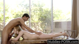 Cock pounded nubilesporn getting huge blonde babe by cock huge