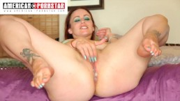 Sexy Bella Rossi does dirty things and John Johnson fucks her good back