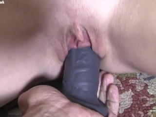 Sexy Gym Blonde Gets Her Wet Pussy Fucked with A Dildo
