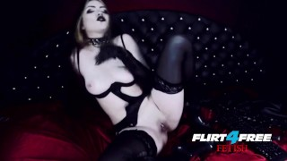 Goth Goddess Fucks Herself in Latex  gothic pussy dominatrix bdsm submission masturbate goth kink mistress big boobs boot worship goddess worship webcam alternative humilation flirt4freefetish latex bondage