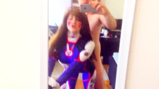 D.va gets play of the game  overwatch dva college teen overwatch cosplay redhead big-ass amateur blowjob cumshot big-boobs pov young cowgirl big-dick doggystyle