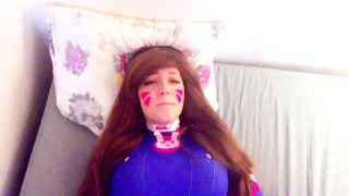 D.va gets play of the game  college teen overwatch cosplay redhead big-ass amateur blowjob cumshot big-boobs pov young cowgirl big-dick doggystyle overwatch dva