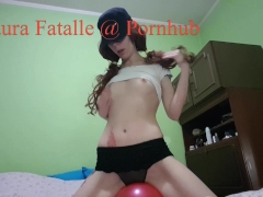 Horny amateur teen humping balloon - Laura Fatalle