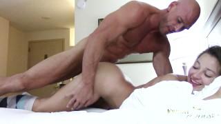 Screen Capture of Video Titled: SinsLife - Dani Daniels Booty Calls Johnny Sins Hardcore Hotel Room Fuck