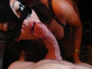 blowjob wiht end on tits