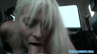 Babe public agent car vacationing in fucked local by italian car with