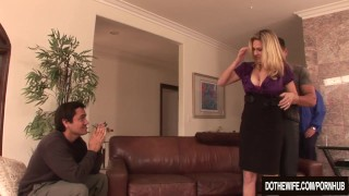 Blonde housewife takes it anally from porn stud cuckolds couple hardcore milf wife mom blowjob blonde mother creampie anal angela-attison dothewife cuckold housewife