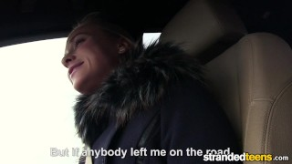 StrandedTeens - Fit Hitchhiker in Nude Stockings