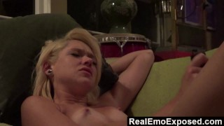 RealEmoExposed - Alt Babe Sky Fucks Herself On The Couch