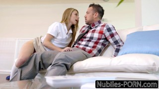 Stepdad olsen caught by punished daughter anya babe hardcore