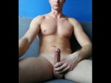 Masturbation on the couch and cum