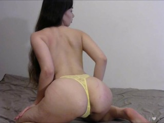 Yellow Thong Twerking and Ass Worship