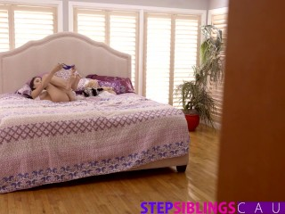 Preview 2 of StepSiblingsCaught - Helping My Step Sister Ariana Marie Cum