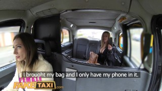 Female Fake Taxi Big tits barmaid gets lesbian tribbing and masturbation Big big