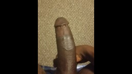 Tugging my balls and bouncing my cock
