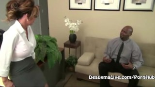 Boss mature deauxma fucks black her milf big bj