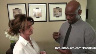 Mature Milf Deauxma Fucks Her Black Boss! Shaved babe
