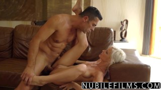 NubileFilms - Hot Sex With My Best Friends Daughter  zazie skyrim babe outdoors pussy-licking nubilefilms blonde cumshot skinny young natural-tits petite shaved big-dick doggystyle facial ass licking
