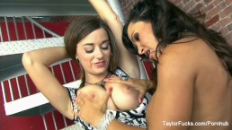 Taylor Vixen and Lisa Ann return for more lesbian sex