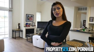 PropertySex - Cheating on wife with real estate agent  point of view real estate agent no panties cheating babe blowjob amateur pov propertysex hardcore brunette reality natural tits shaved pussy