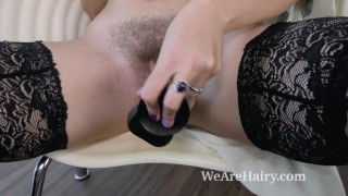 Her black dildo chair with v elena masturbates in masturbate wearehairy