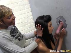 Rashae and Nadia Pariss suck and fuck - Gloryhole
