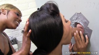 Rashae and Nadia Pariss suck and fuck - Gloryhole ebony 3some hardcore glory-hole black blowjob big-cock gloryhole pornstar deepthroat threesome interracial small-tits dogfartnetwork fetish