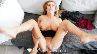 PUREMATURE Controlling step mom Corrina Blake anal fucked by step son  big-tits step-son old mom cumshot anal-sex busty ass-fuck milf puremature mature shaved mother anal step-mom corinna blake
