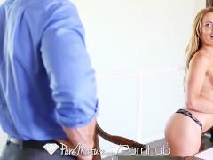PUREMATURE Corinna Blake plays with vibrator before fuck