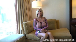 Big Titty MILF Gets Drilled In Vegas vegas milf hardcore mature mom blowjob blonde cougar mother cum-shot big-boobs big-tits huge-tits hotel hand-job wifeysworld