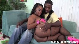 WANKZ- Samone Taylor Enjoys Working Big Black Ass Down Monster Cock