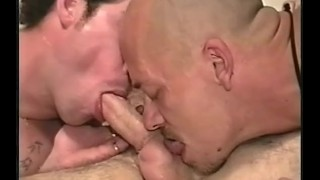 Bareback young hung  scene and roast spit