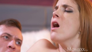 Preview 6 of MOM Sexy tight Spanish redhead takes on huge cock and receives facial
