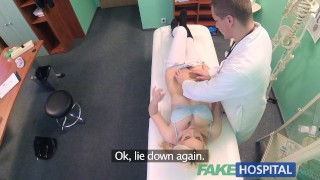 Docs with shy pussy squirts hospital wet patient fingers on soaking fake doctor finger