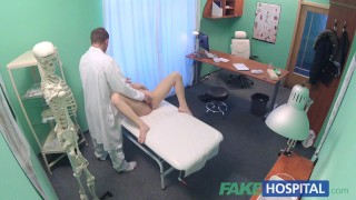 Squirts docs fingers patient shy pussy hospital with on soaking wet fake clinic reality