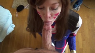 young cumshot facial cosplay overwatch d.va redhead college deepthroat 60fps hd-pov 1080p big-cock oral fellatio