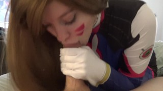 Nerf this! Let's shoot for a new high score!  cosplay redhead college fellatio young hd-pov cumshot 1080p deepthroat overwatch oral d.va facial 60fps