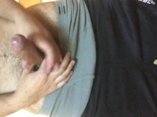 Horny latino cums in his dormroom
