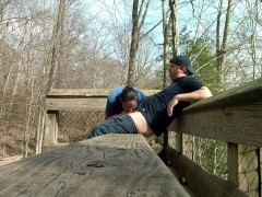 Amateur couple ALMOST caught fucking at the park…