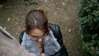 Public Striptease and Blowjob in a city Park