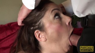 Busty british sub spunked in mouth twice