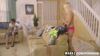 WANKZ- Cougar Stepmom Testing The Next Generation  riding mom blonde blowjob milf hardcore natural-tits cowgirl rough shaved mother step-mom doggystyle wankz