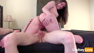 Hardcore Riding & Deep Creampie with LindseyLove Pov blowjob