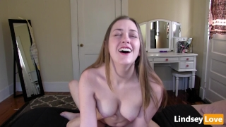 Hardcore Riding & Deep Creampie with LindseyLove Licking reverse