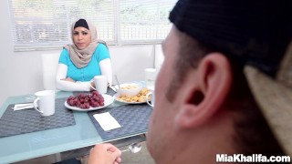 Big Tits Arab Pornstars Mia Khalifa and Julianna Vega Fuck Big Dick White D