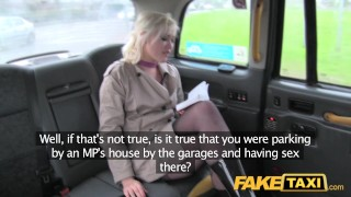 Fake Taxi Journalist gets exclusive fake news story from London taxi driver  news reporter misha mayfair british oral ass-licking blonde public pov fake camera faketaxi rimming spycam car dogging rough
