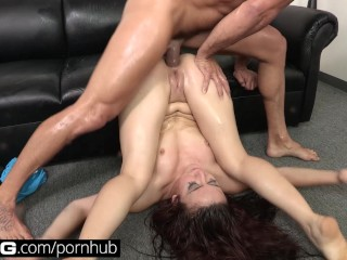 Office Amateur Milf BANG Casting: Mandy Muse Anal Slut Unleashed & Wild