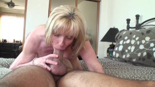 53 year old MILF Sucks and Fucks a 20 year old Young Fan  canada old canadian mom blowjob 69 milf cougar mother fan fuck quebec thick cock ontario cum in mouth old woman young boy fuck a fan